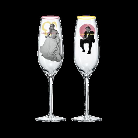 LOVE FOR SALE von Tony Bennett & Lady Gaga - Champagnergläser jetzt im Lady Gaga Store