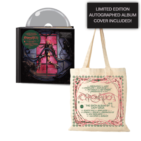 CHROMATICA (LTD DELUXE CD + TOTE BAG + AUTOGRAPHED ALBUM COVER) von Lady GaGa - CD Bundle jetzt im Lady Gaga Shop